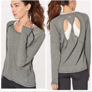Lululemon Stop Drop and Squat Gray Long Sleeve 8